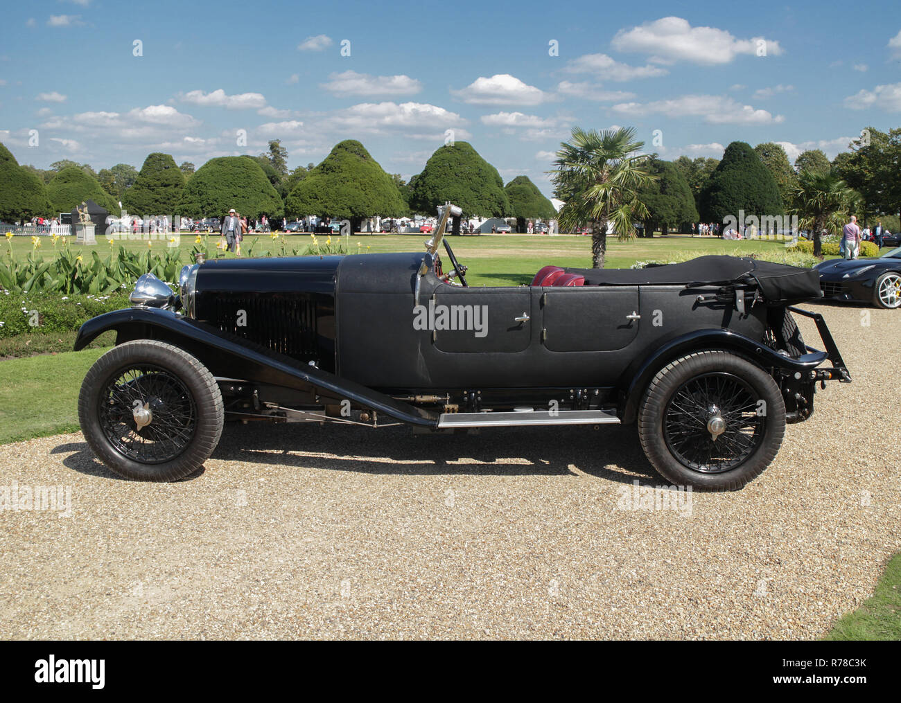 Lagonda 2 Litre Low Chassis  reg.no. PK 2011 amongst other cars on display at theConcours of Elegance 2018 , Hampton Court Palace, East Molesey,Surrey - Stock Image