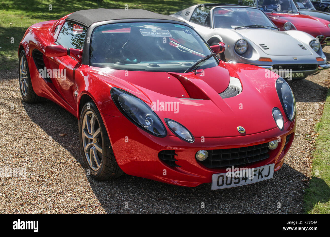 A Lotus Elise one of the club cars displayed at the Concours of Elegance 2018 at Hampton Court Palace, Molesey, East Surrey - Stock Image
