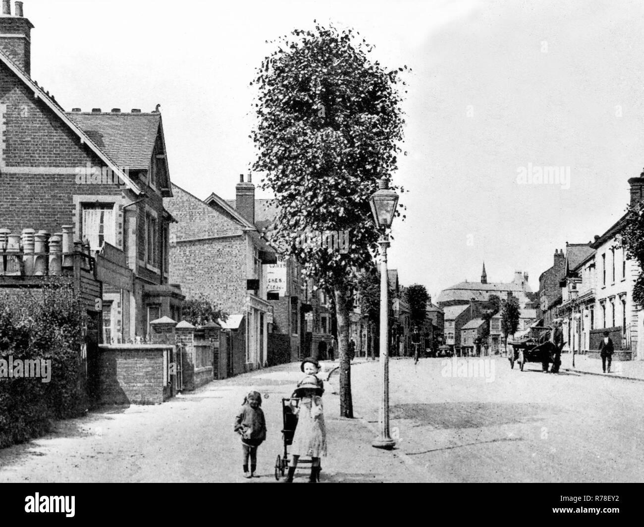 Station Road, Market Harborough - Stock Image