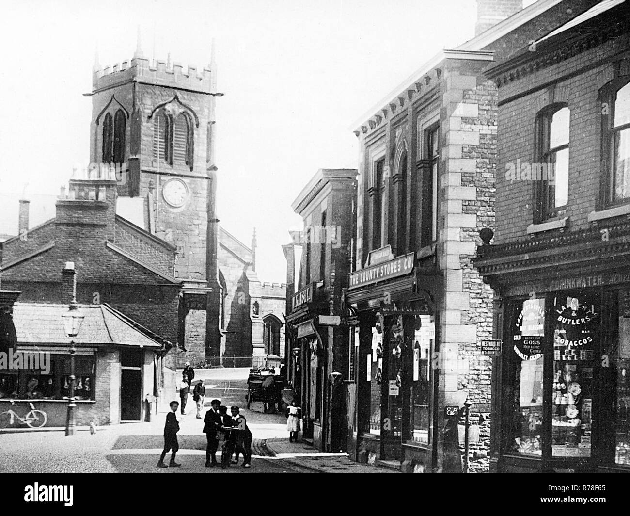 Bull Ring,  Middlewich - Stock Image
