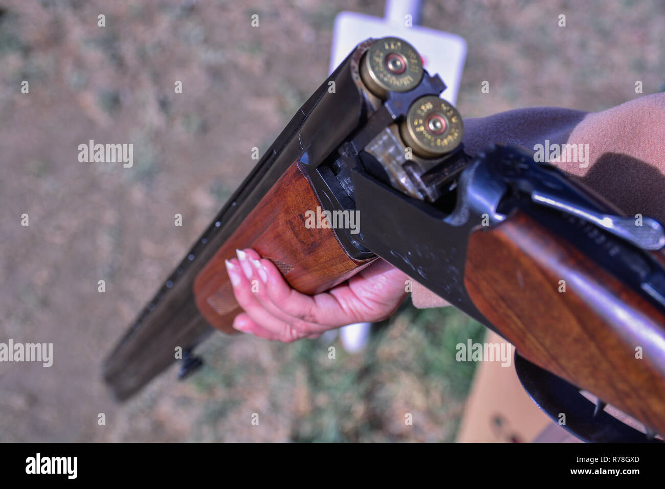 Skeet Shooting - Stock Image