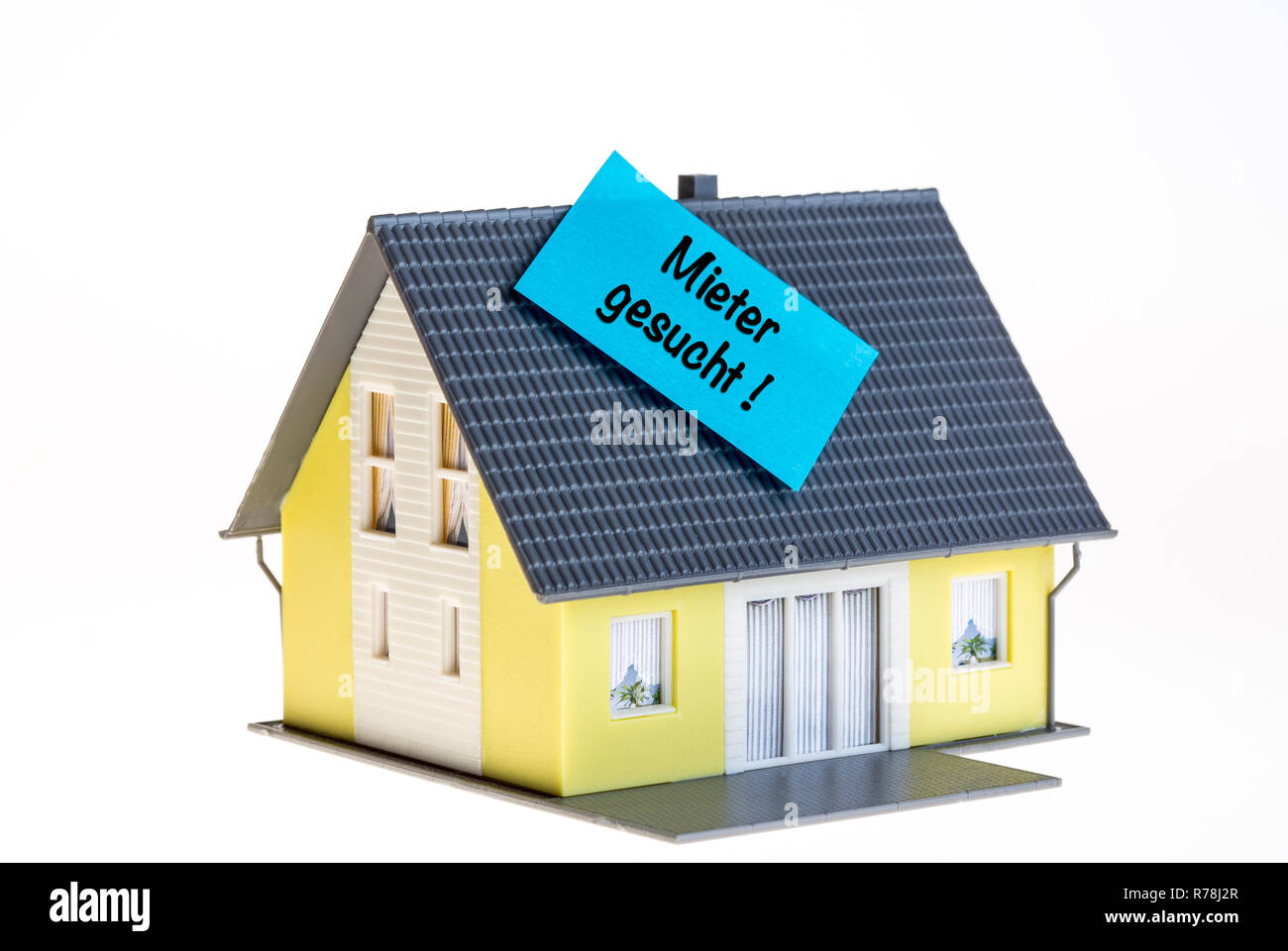 Real estate symbol, looking for tenants, German language - Stock Image