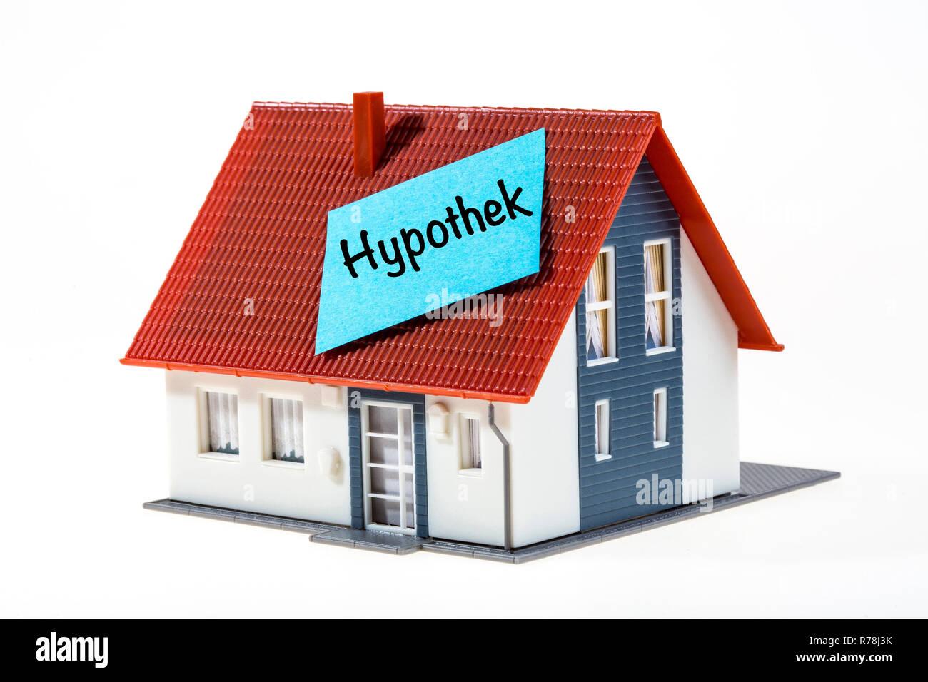 Real estate symbol, mortgage, German language - Stock Image