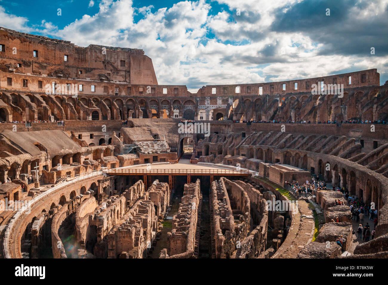Interior Of The Coliseum Flavian Amphitheater Or Anfiteatro Flavio