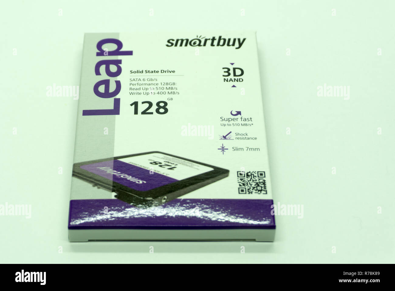 SSD smartbay, storage devices using data recording, Russia Berezniki 13 Nov 2018 - Stock Image