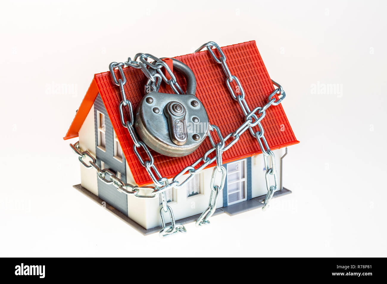 Home, model-home, intrusion protection, theft protection, security, privately owned home, symbolic - Stock Image