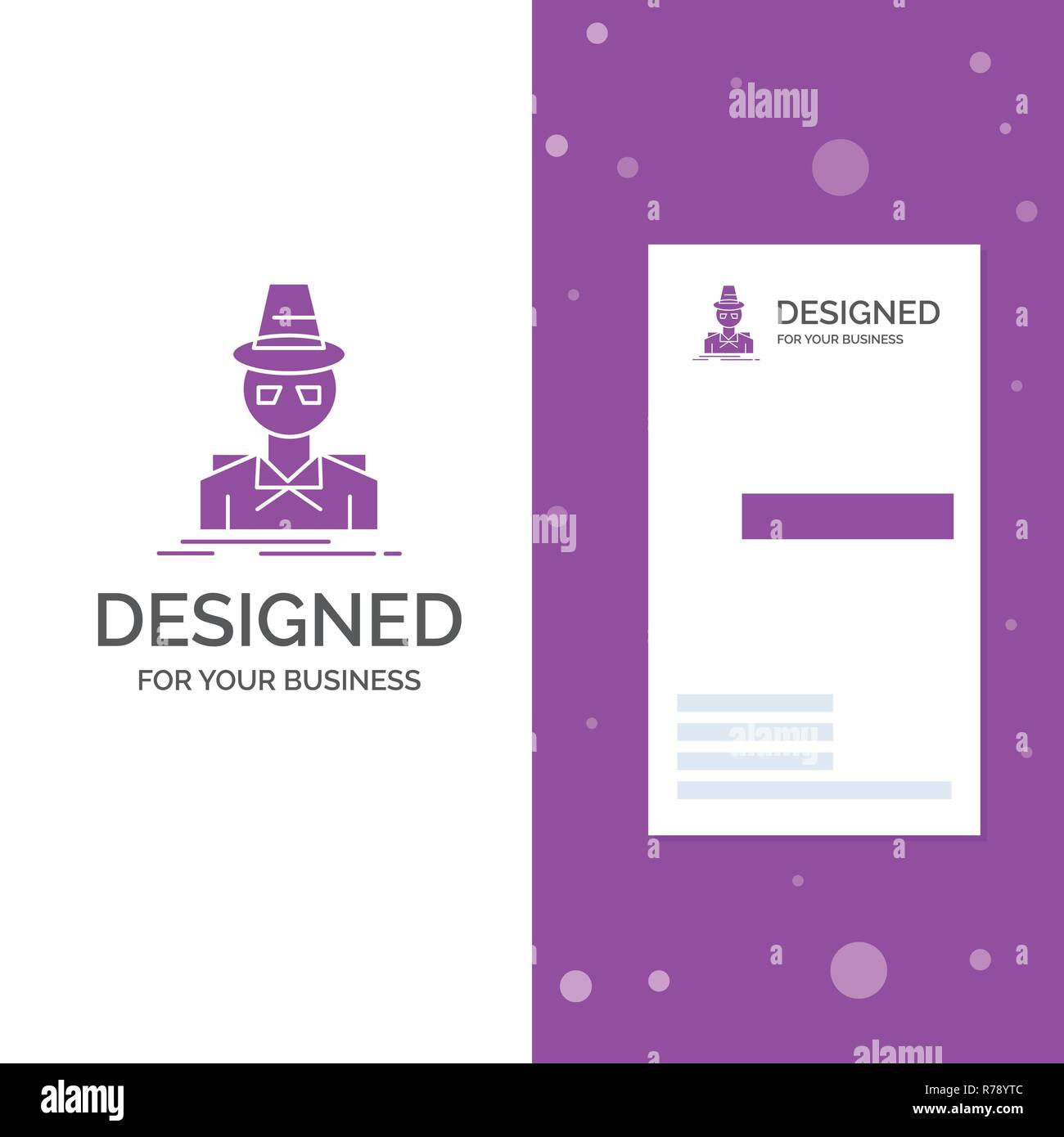 63e67858 Business Logo for Detective, hacker, incognito, spy, thief. Vertical Purple  Business
