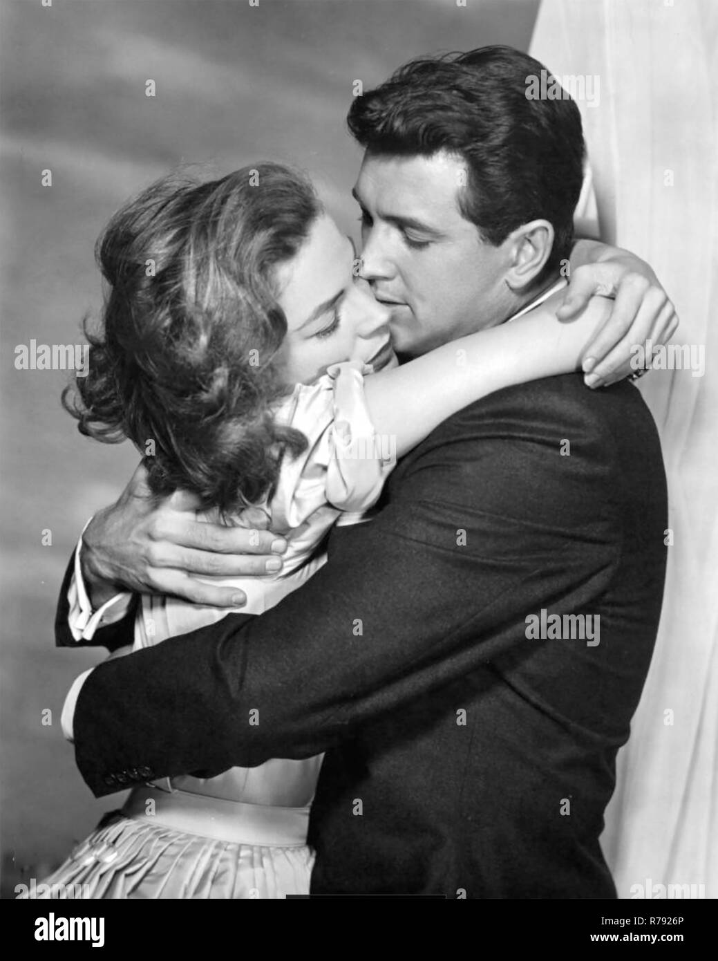 WRITTEN ON THE WIND 1956 Universal International film with Lauren Bacall and Rock Hudson - Stock Image