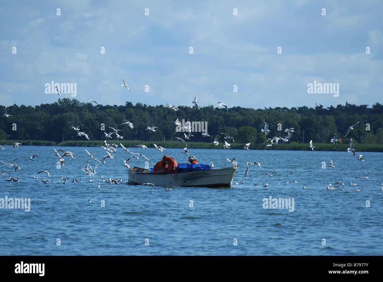 fishermen work Stock Photo