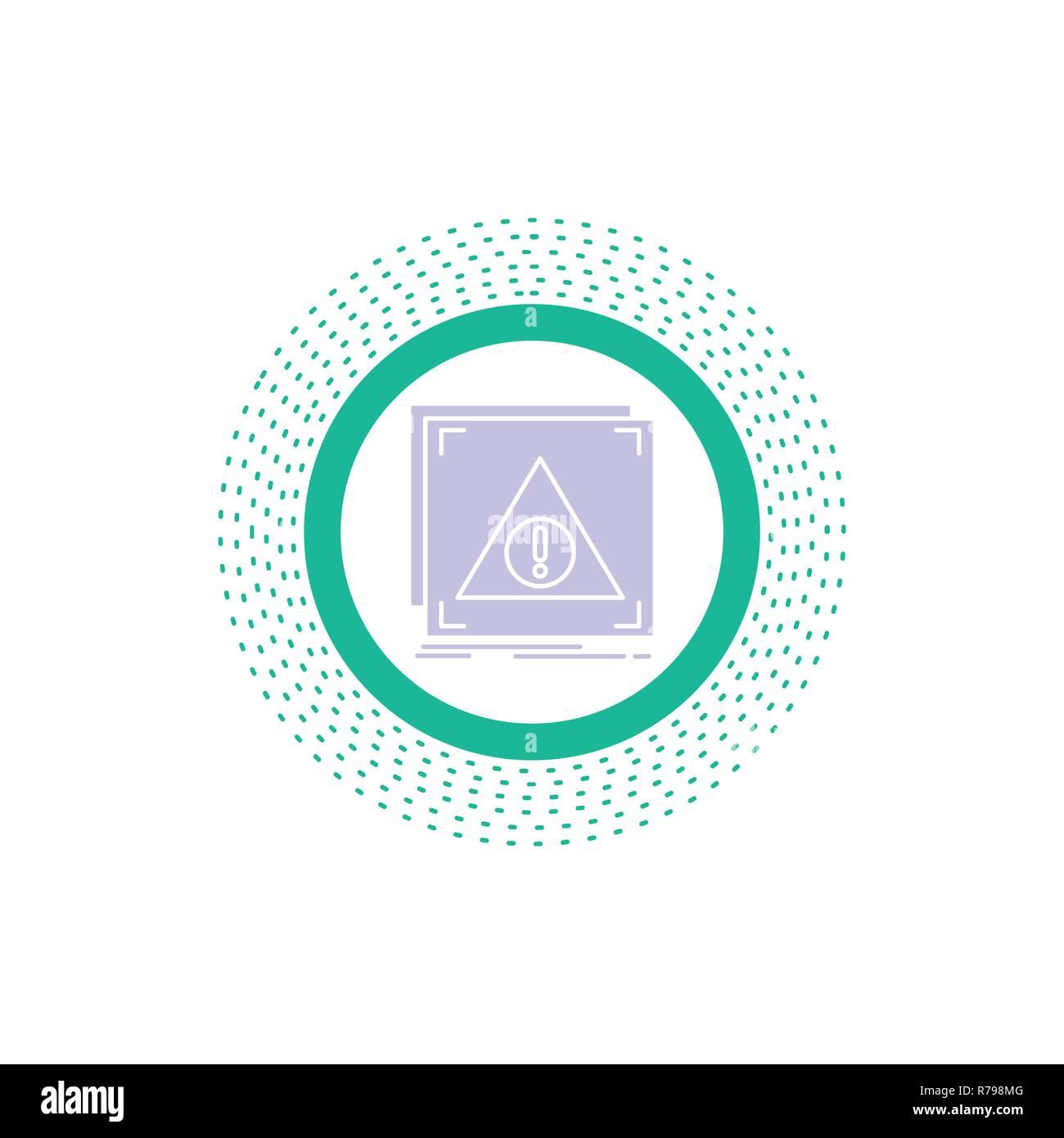 Error, Application, Denied, server, alert Glyph Icon. Vector isolated illustration - Stock Image