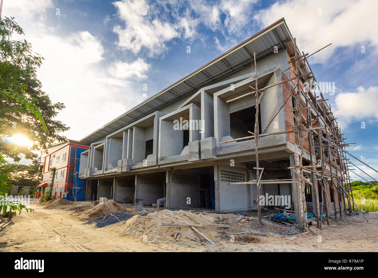 Two Storey Houses Are Under Construction In Thailand Modern House