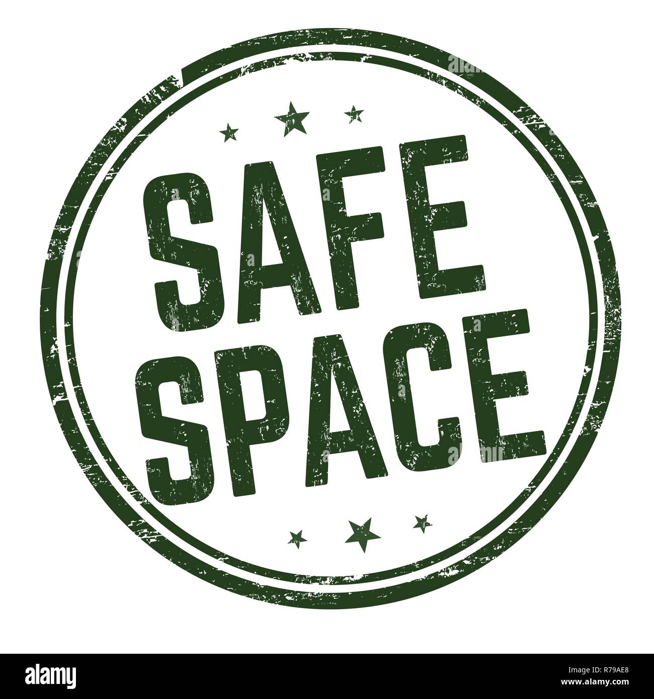 Safe space sign or stamp on white background, vector illustration - Stock Vector