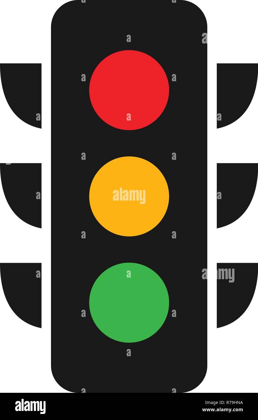 Traffic Light Logo Graphic Design Template Vector Stock Vector Art