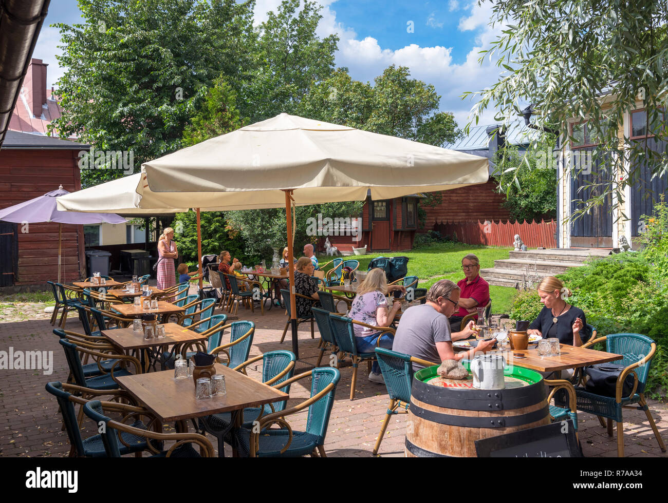 Cafe in the old town, Porvoo, Uusimaa, Finland - Stock Image