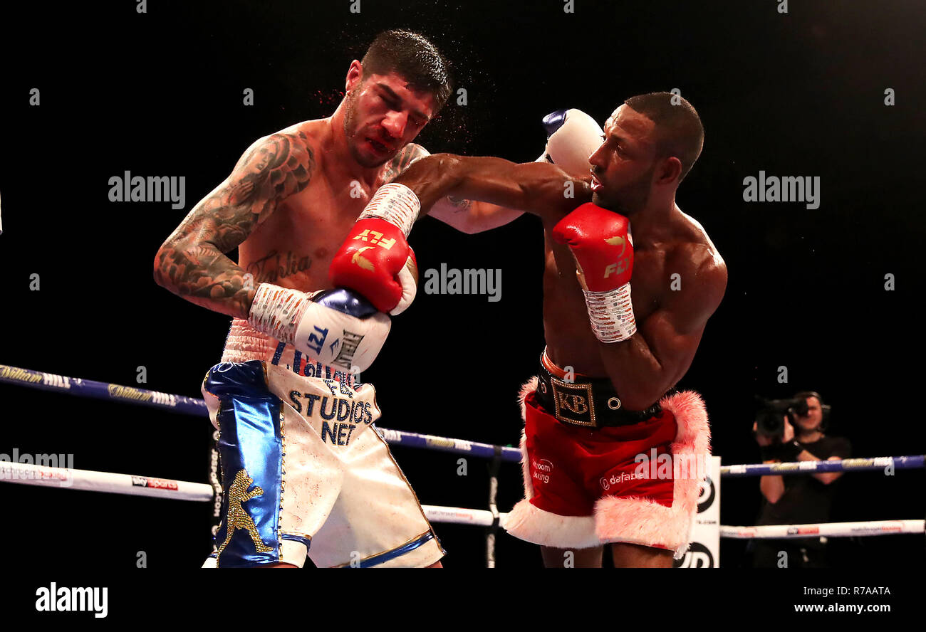 Michael Zerafa (left) and Kell Brook in action during the Final