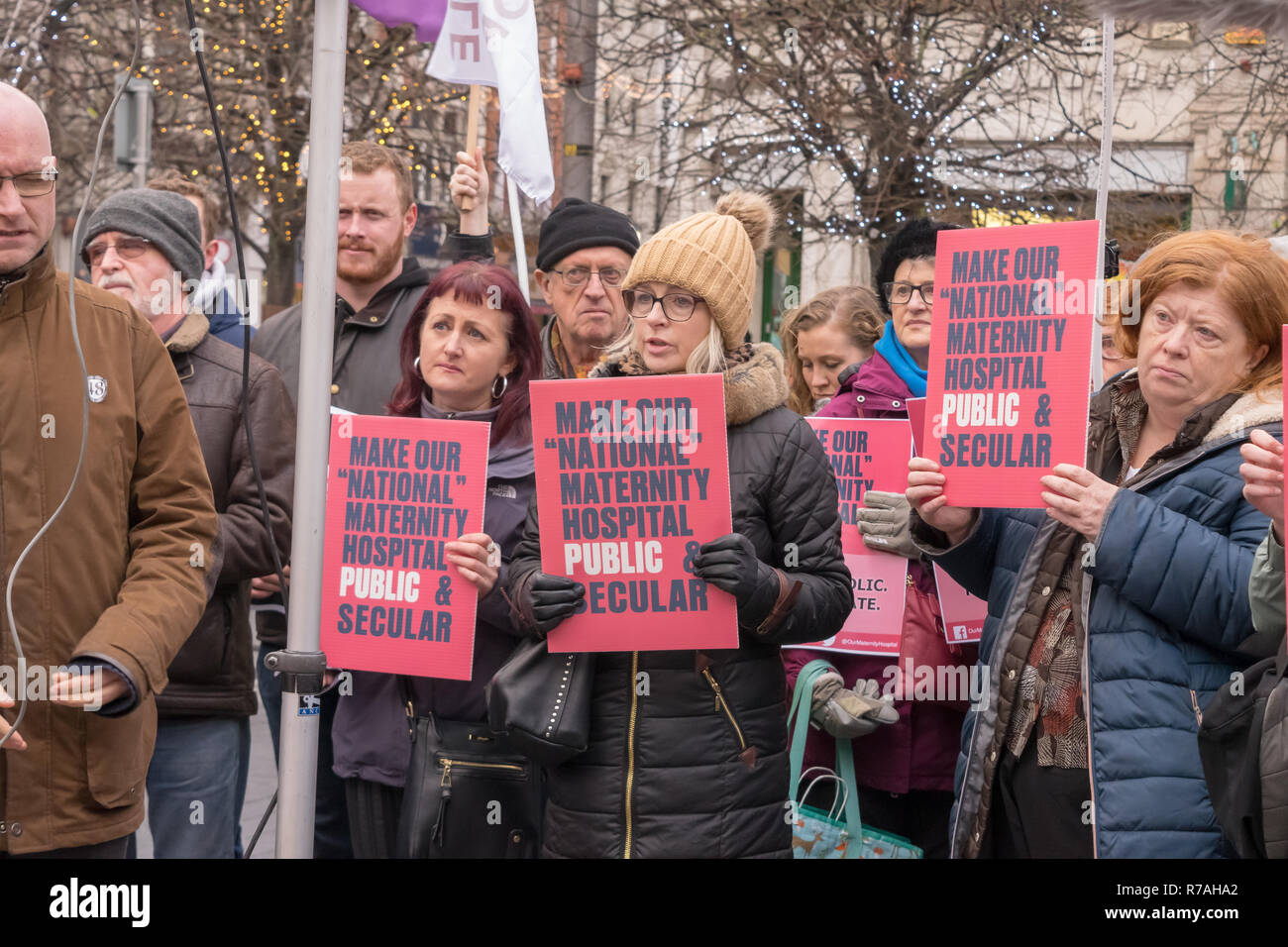 Dublin, Ireland. 8th December, 2018. Make Our National Maternity Hospital Public Demonstration. Featuring: Credit: Fabrice Jolivet Credit: Fabrice Jolivet Photography/Alamy Live News - Stock Image