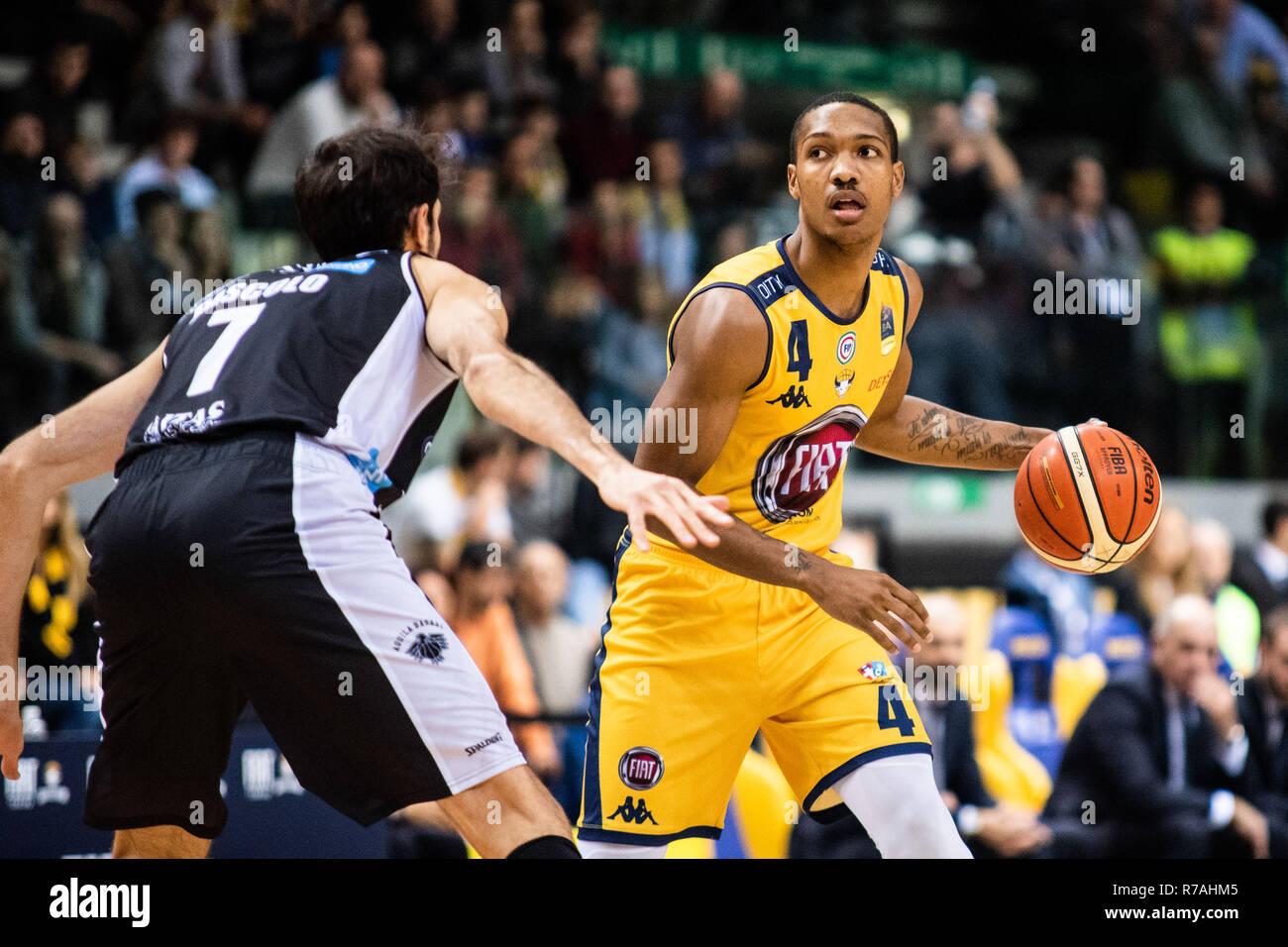 Foto LaPresse - Alberto Gandolfo 8-12-2018 Torino - Italia Sport  PallacanestroFiat Torino vs Aquila Basket TrentoLega Basket  Serie A 2018/2019 Nella foto: Carr Photo LaPresse - Alberto  Gandolfo 8-12–2018 Torino - Italy