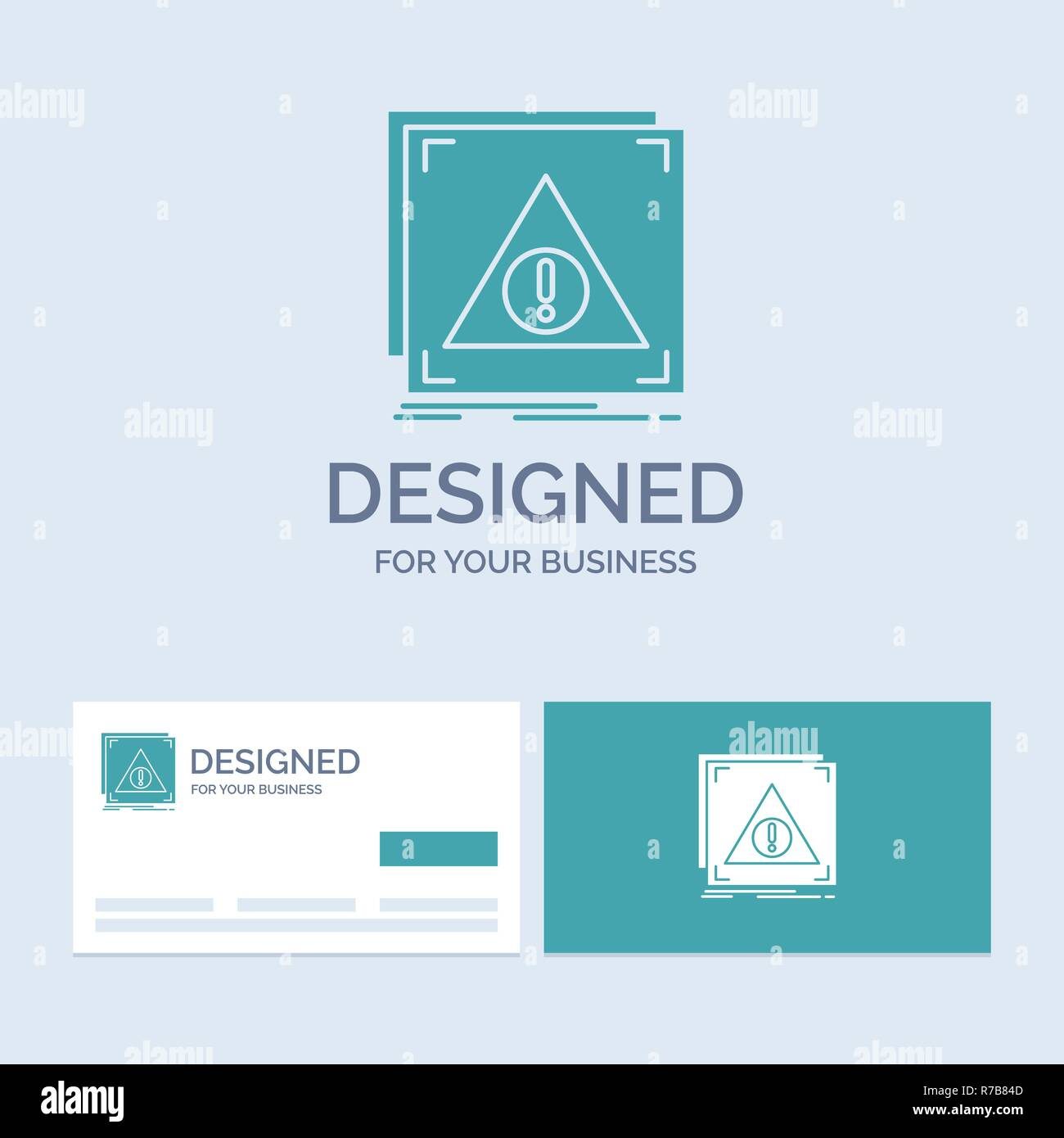 Error, Application, Denied, server, alert Business Logo Glyph Icon Symbol for your business. Turquoise Business Cards with Brand logo template. - Stock Image