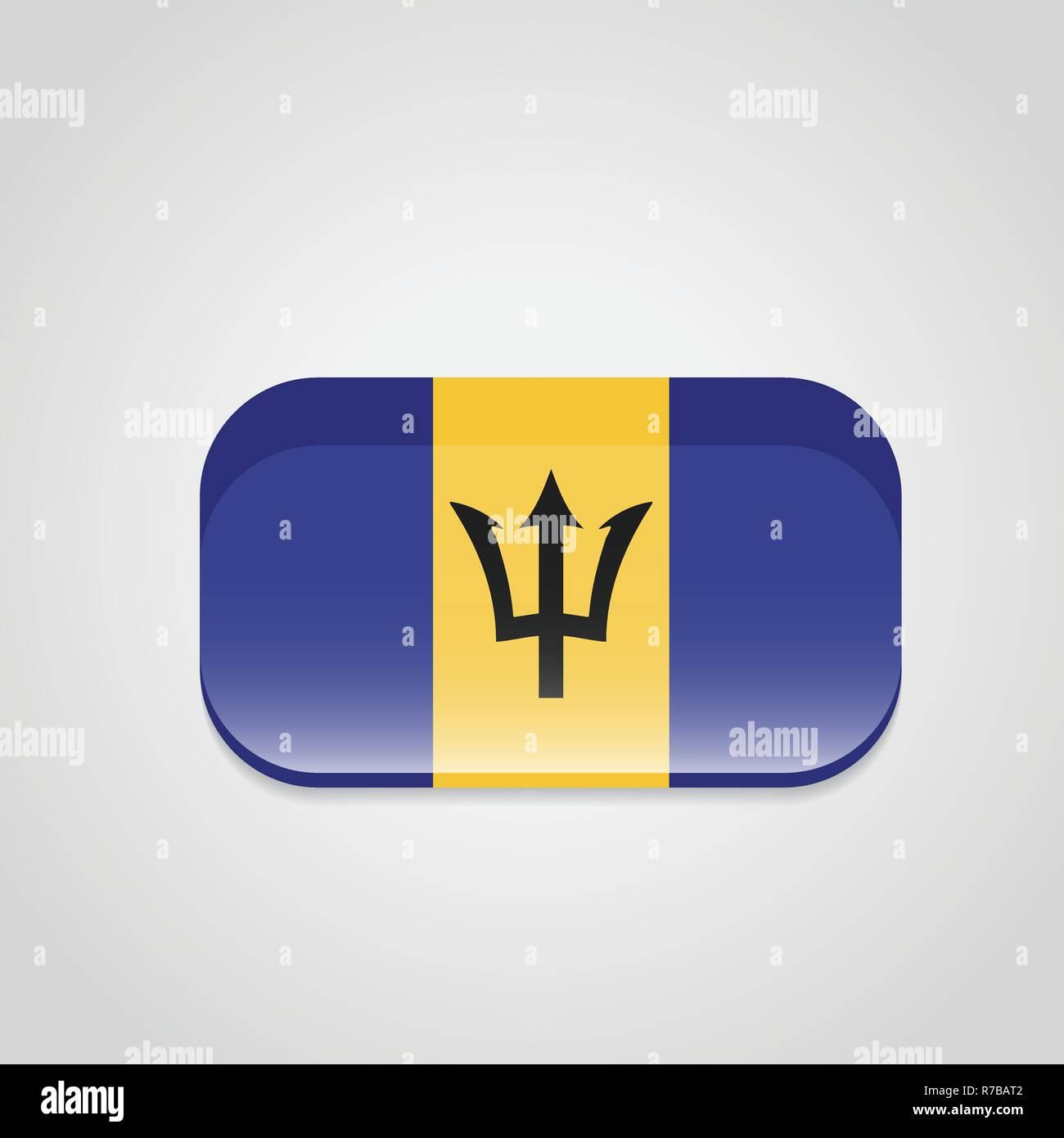 Barbados Flag Design Vector Stock Vector