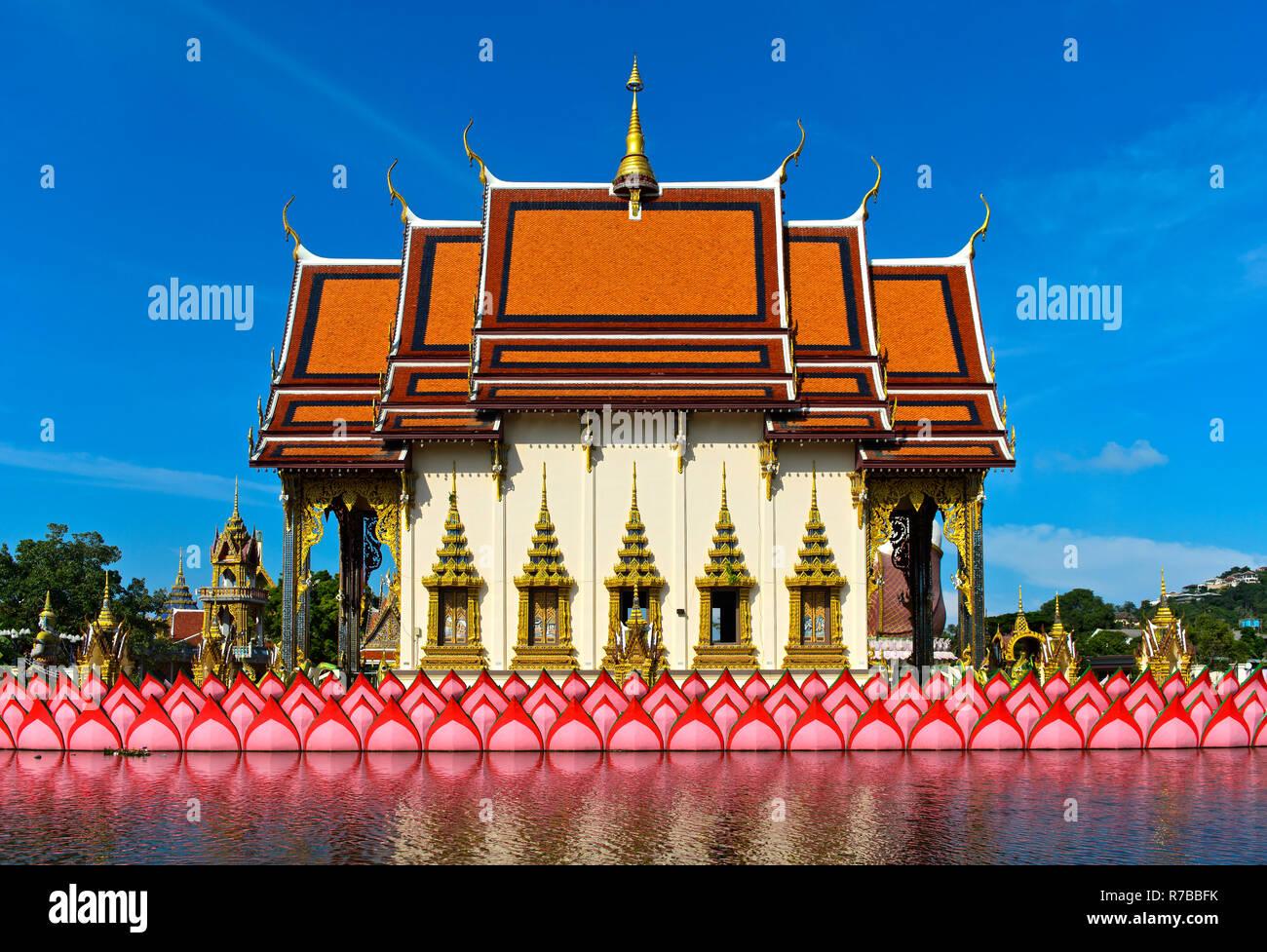 Suwannaram Temple, Wat Plai Laem, Koh Samui, Thailand Stock Photo