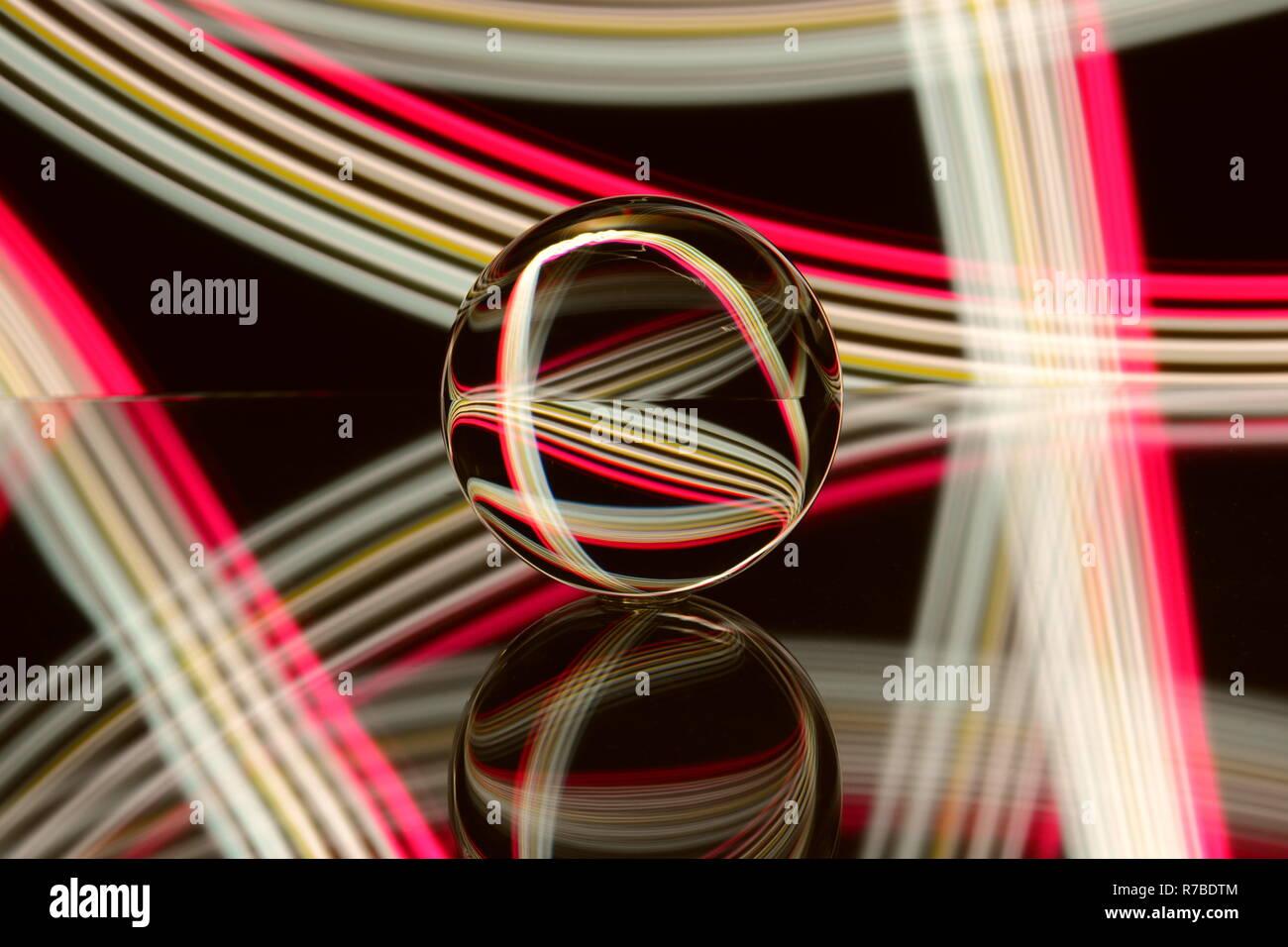 Glaskugel, Licht Kunst, Licht, Hintergrund - Stock Image