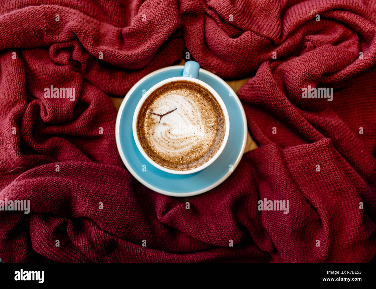 Vintage Background Of Coffee Food Photography For Design Latte Art On Cup Stock Photo Alamy