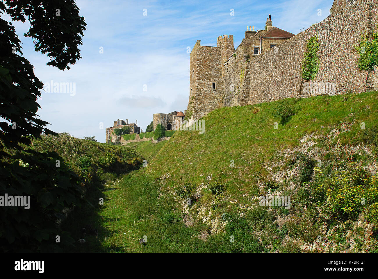 Exterior view of Dover Castle, Kent, England, United Kingdom. Dover Castle is the largest castle in England Stock Photo