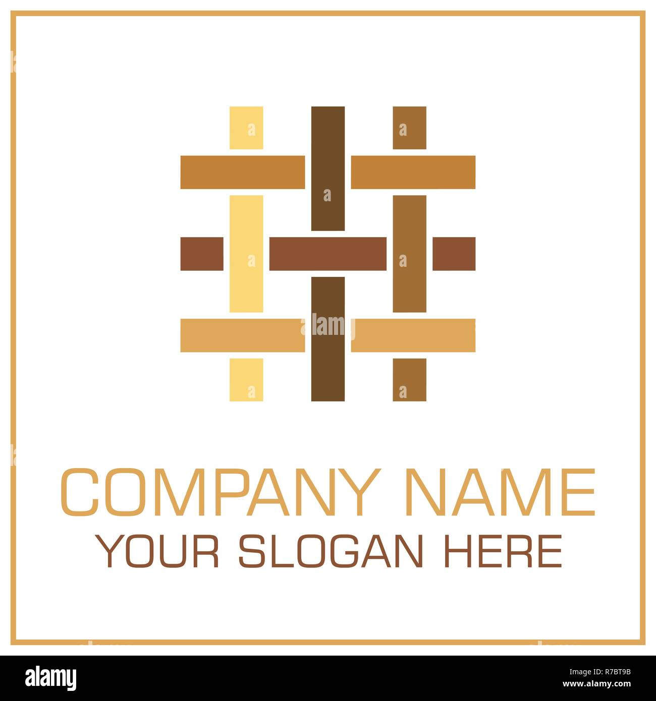 Vector Logo Flooring , Parquet , Laminate , Tiles , Carpentry , Timber for Business or Company - Stock Vector