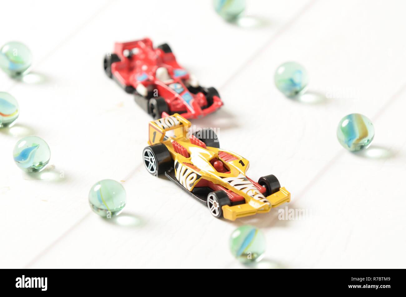 Hot wheels diecast  F1 racing Stock Photo