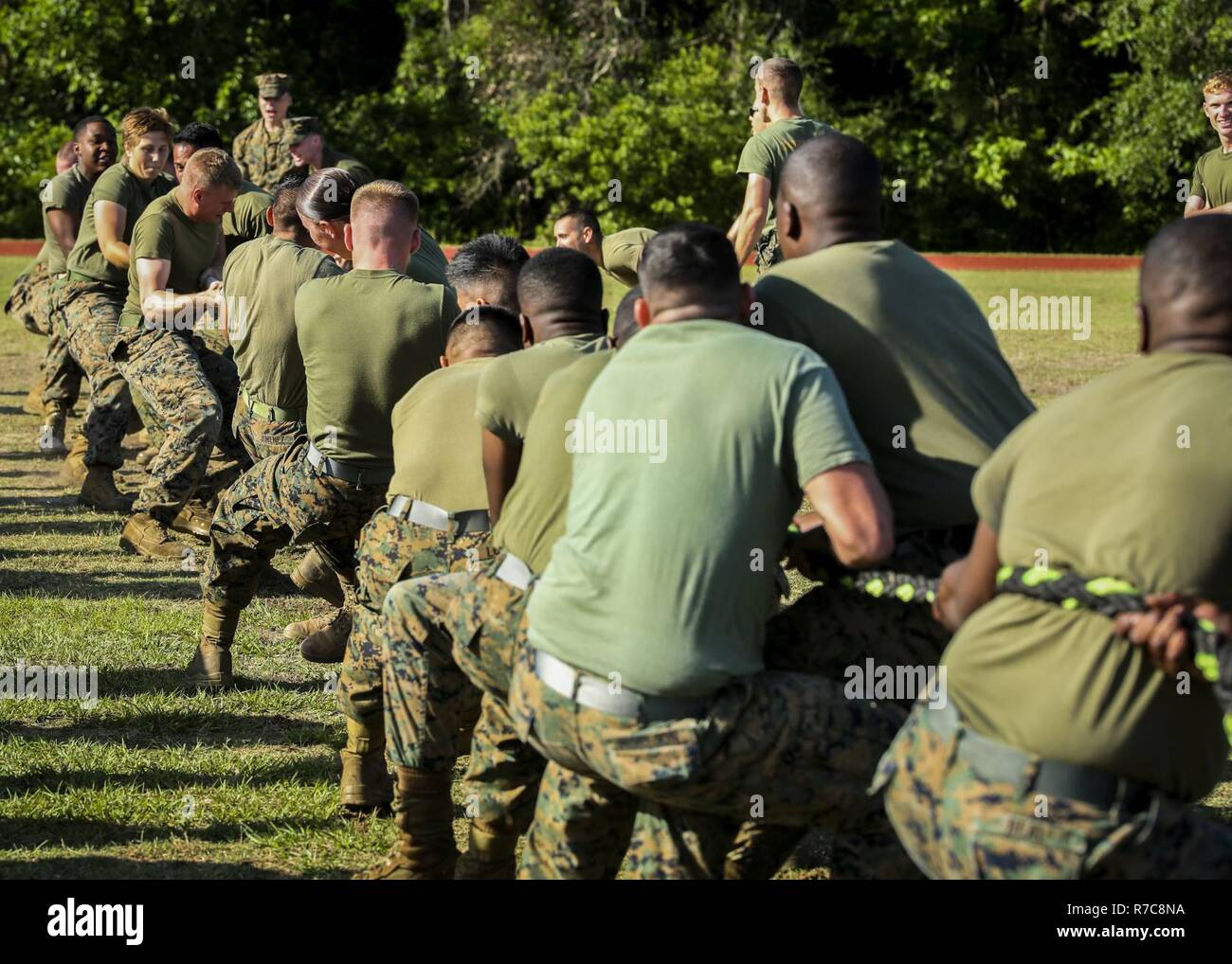 ccbcb412d Marines compete in a tug of war aboard Marine Corps Air Station Beaufort,  May 5