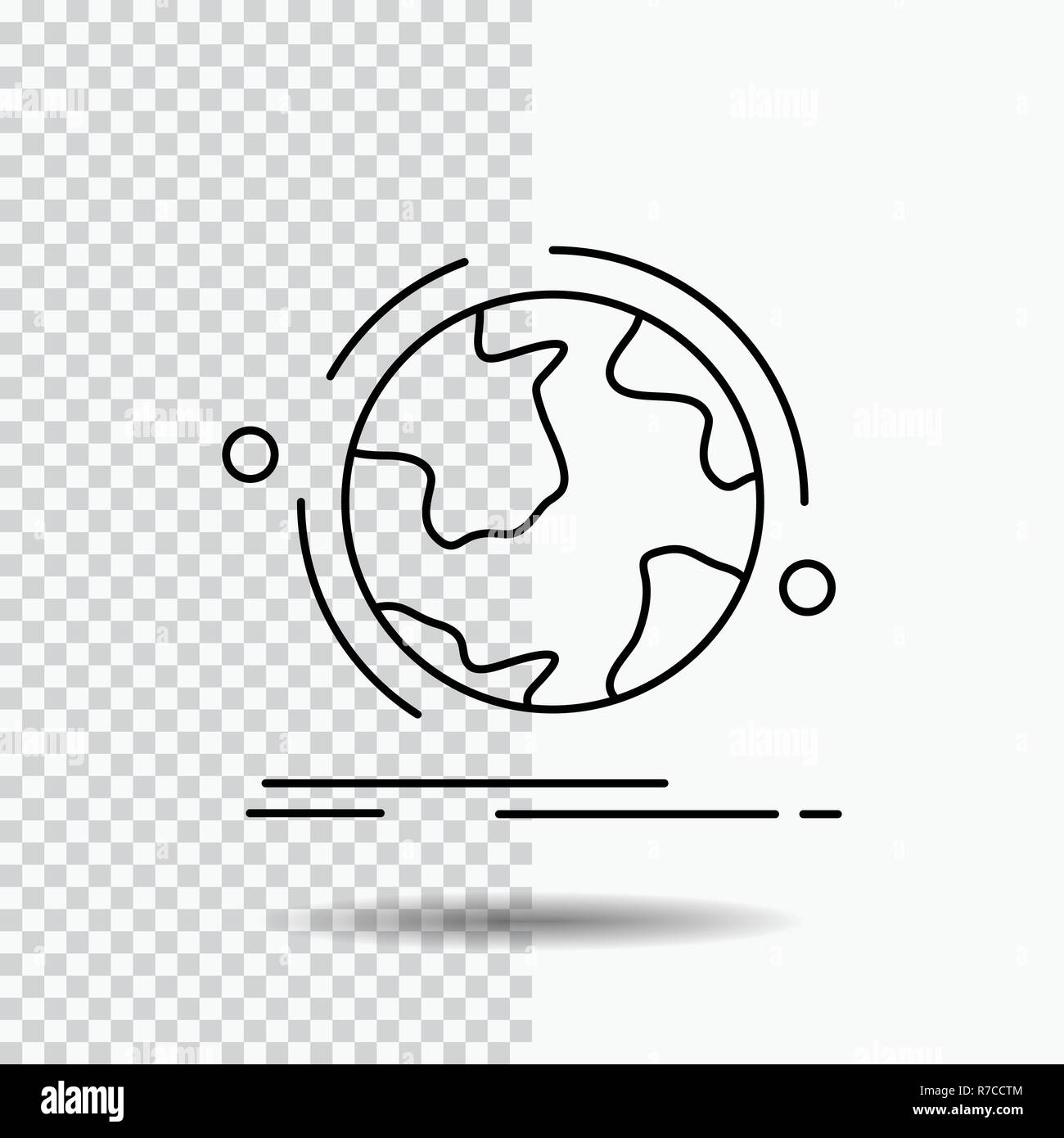 globe, world, discover, connection, network Line Icon on