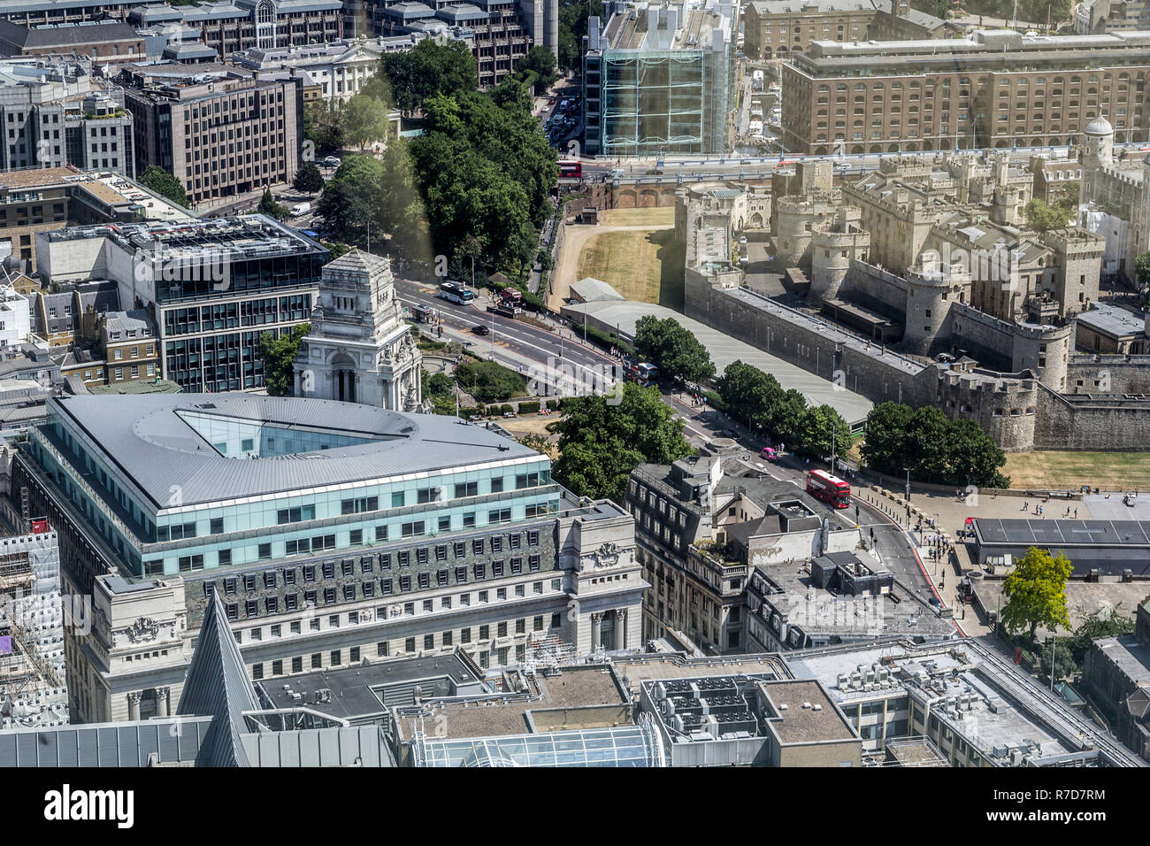 Beautiful panorama of London city taken from above, United Kingdom - Stock Image