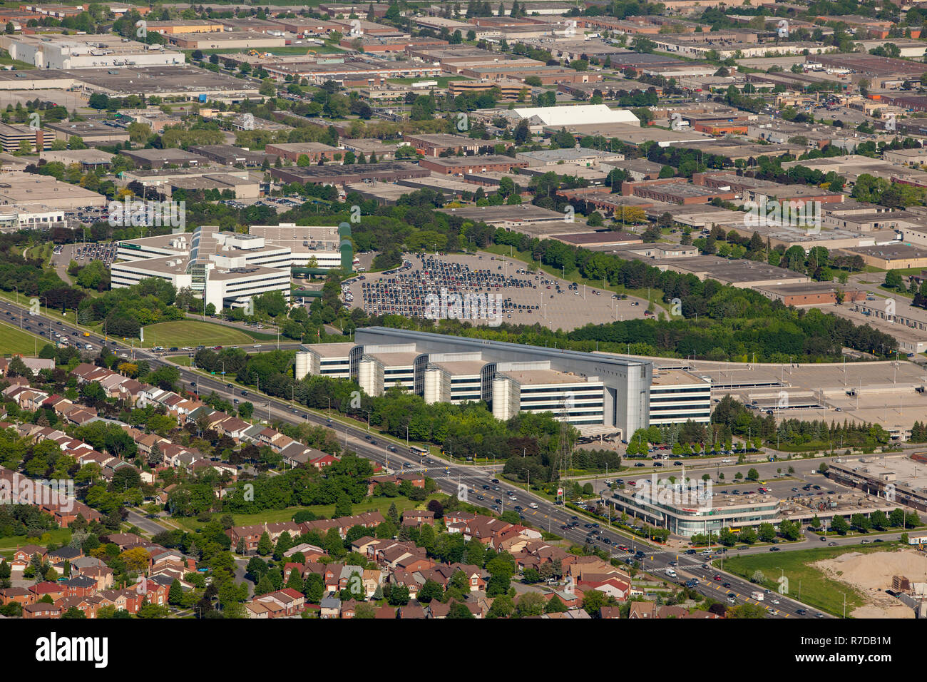 An Aerial view of IBM headquarters in Markham Ontario. - Stock Image