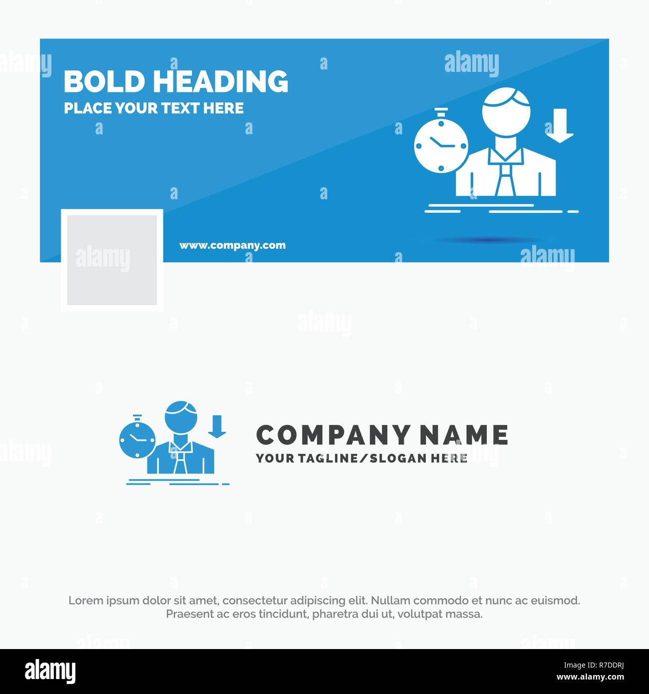 Blue Business Logo Template For Failure Fail Sad Depression Time