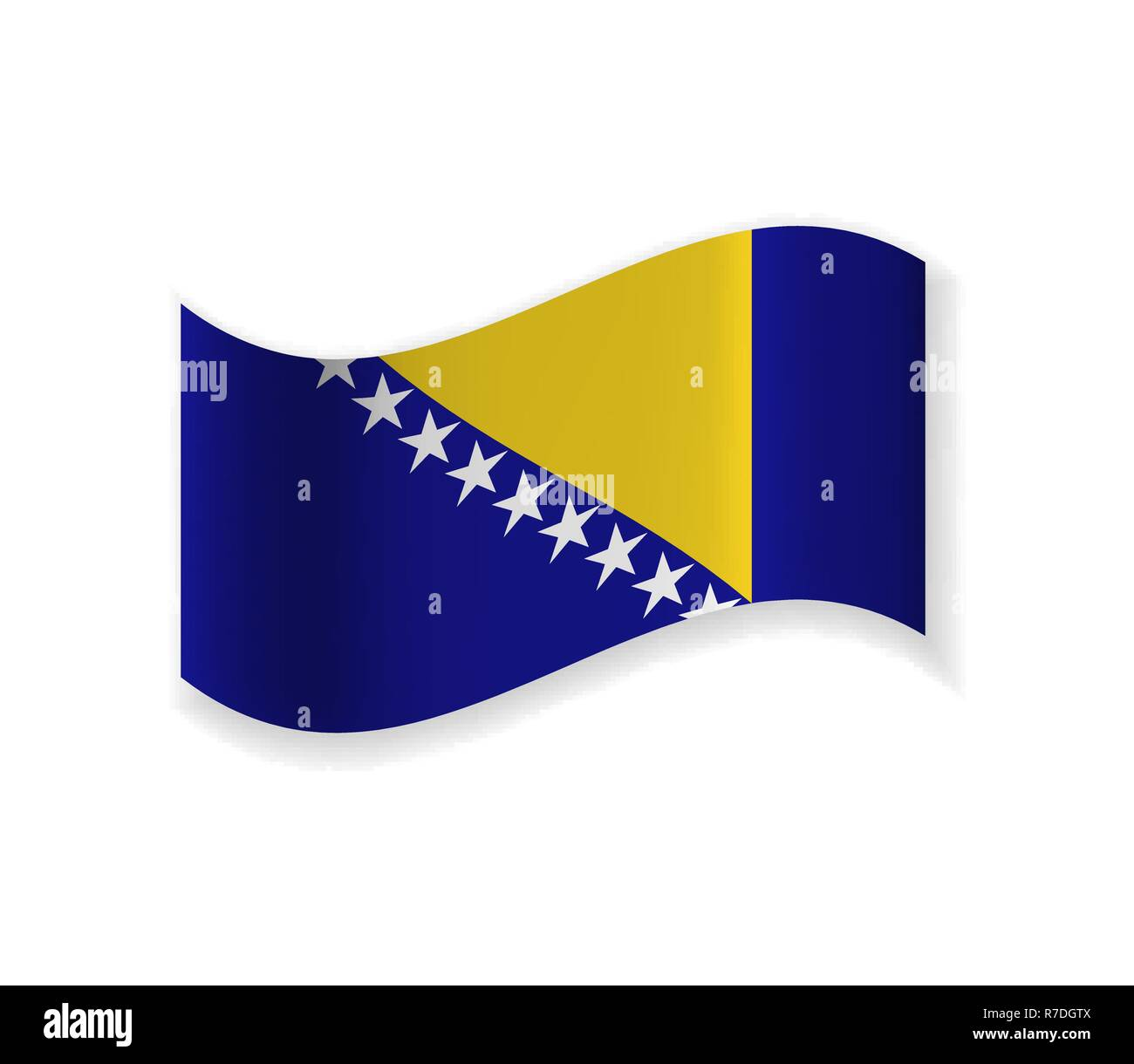 The flag of Bosnia and Herzegovina. country in Europe. National symbol. Vector illustration. - Stock Vector