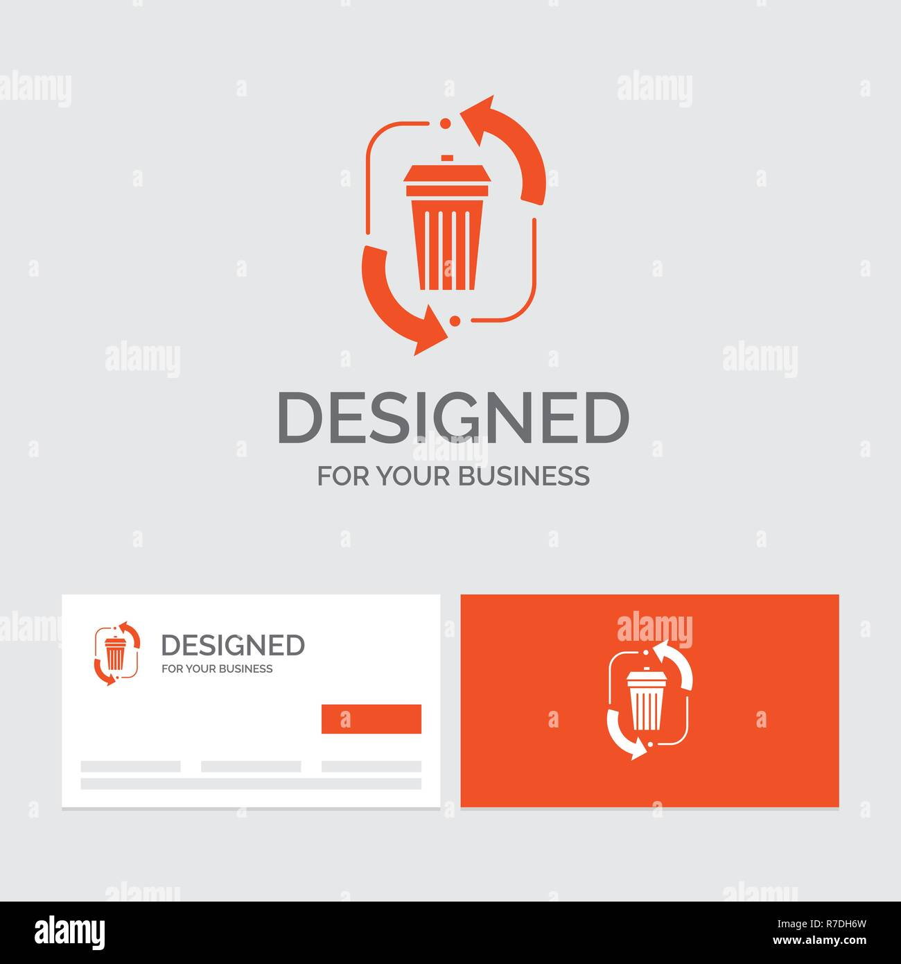 business logo template for waste disposal garbage management