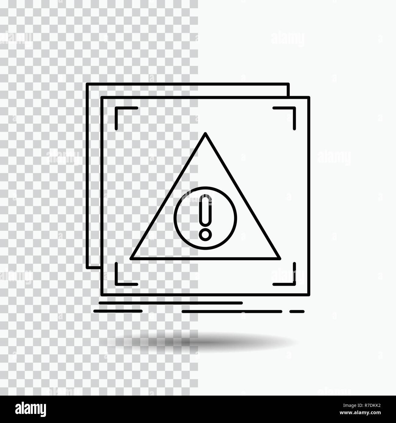 Error, Application, Denied, server, alert Line Icon on Transparent Background. Black Icon Vector Illustration - Stock Image