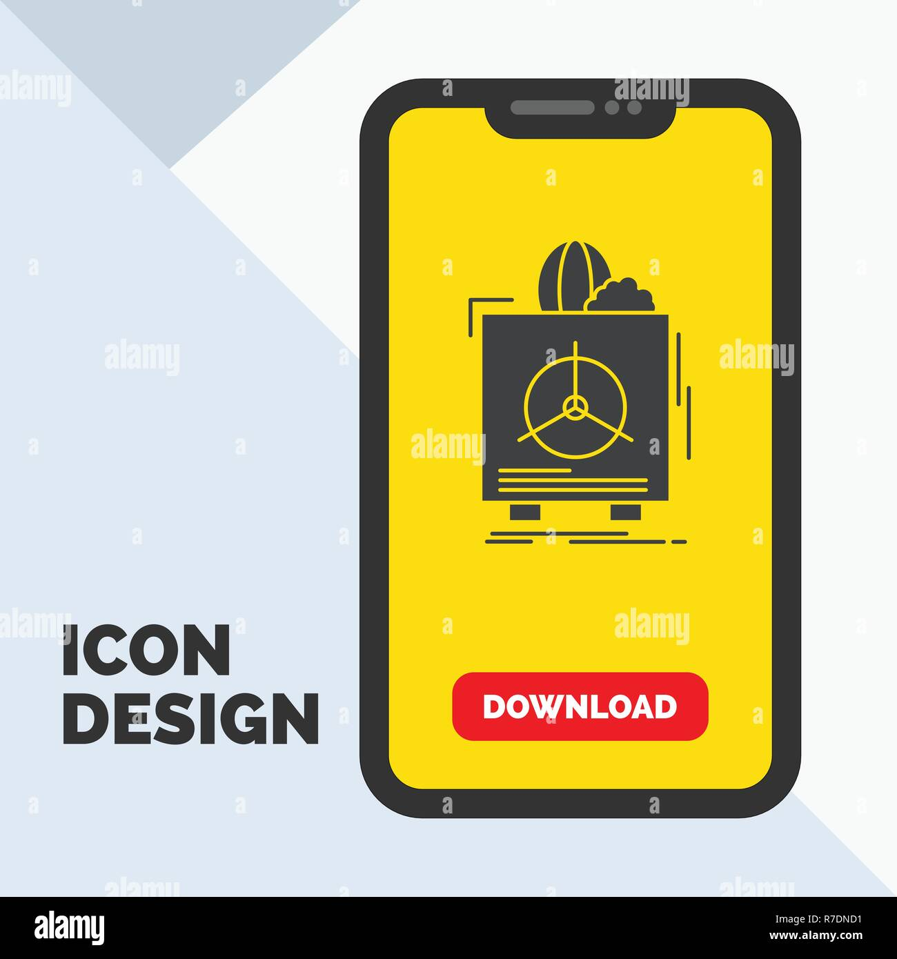 insurance, Fragile, product, warranty, health Glyph Icon in Mobile for Download Page. Yellow Background - Stock Vector