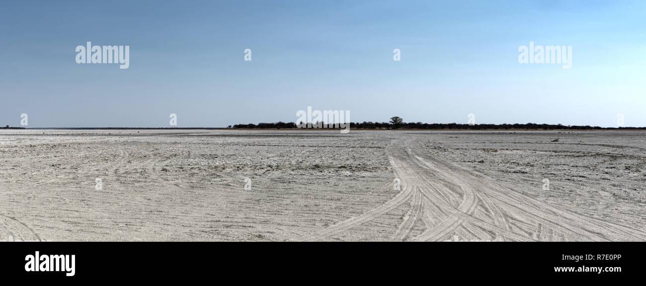 the Kudiakam Pan in Nxai Pans National Park, Botswana - Stock Image
