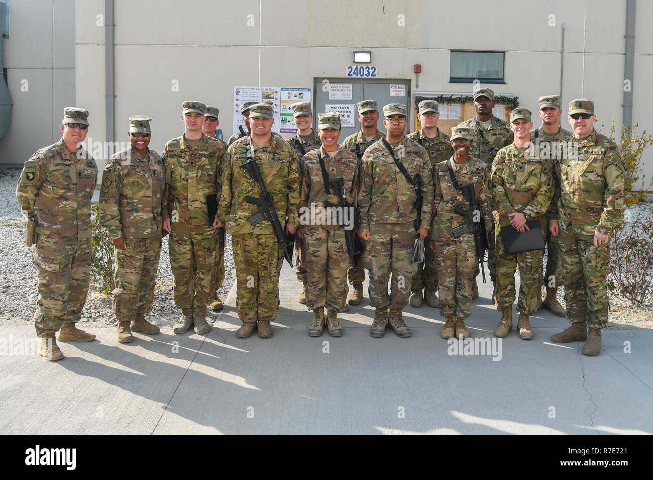 Basic Leader Course class 18-14 graduates at Bagram Airfield