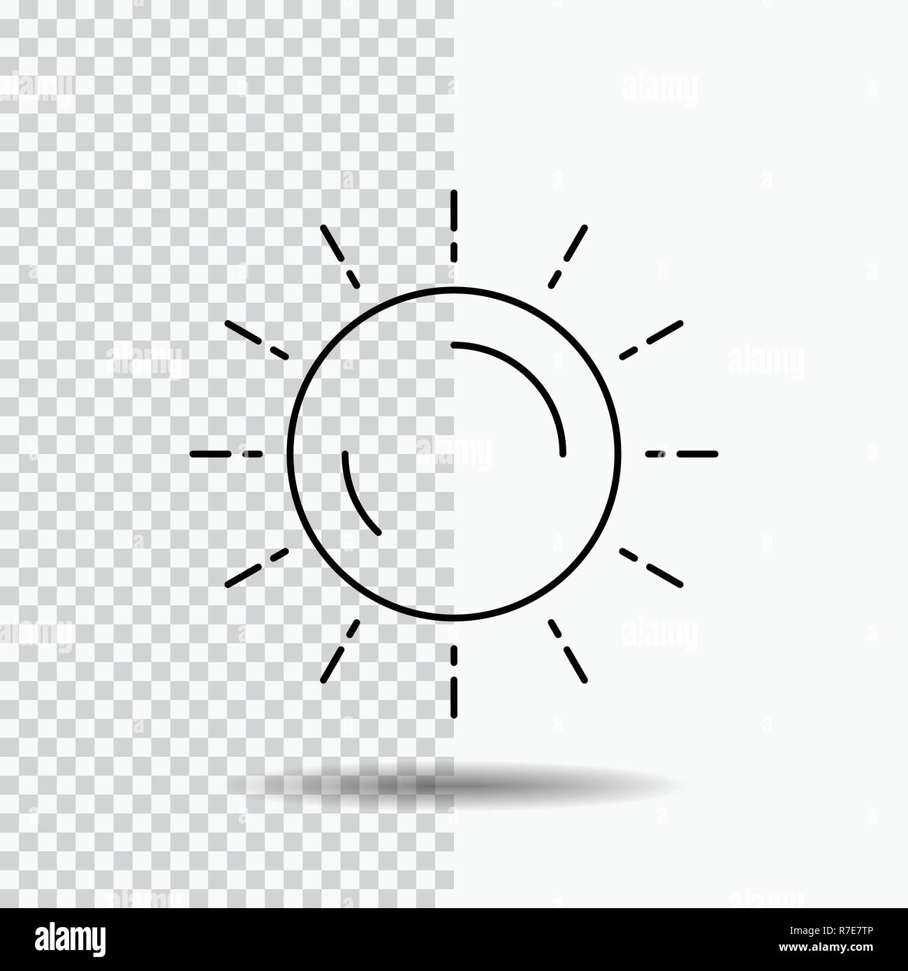 sun, weather, sunset, sunrise, summer Line Icon on