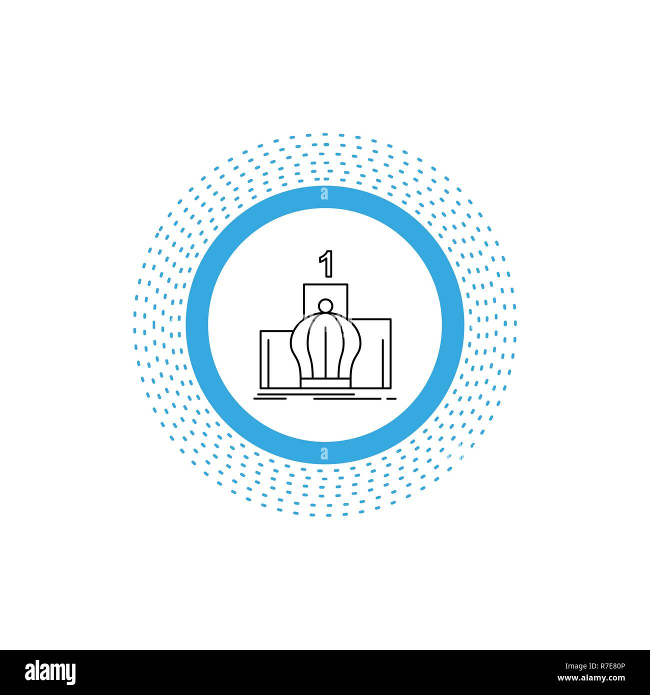 Crown, king, leadership, monarchy, royal Line Icon. Vector isolated illustration - Stock Vector