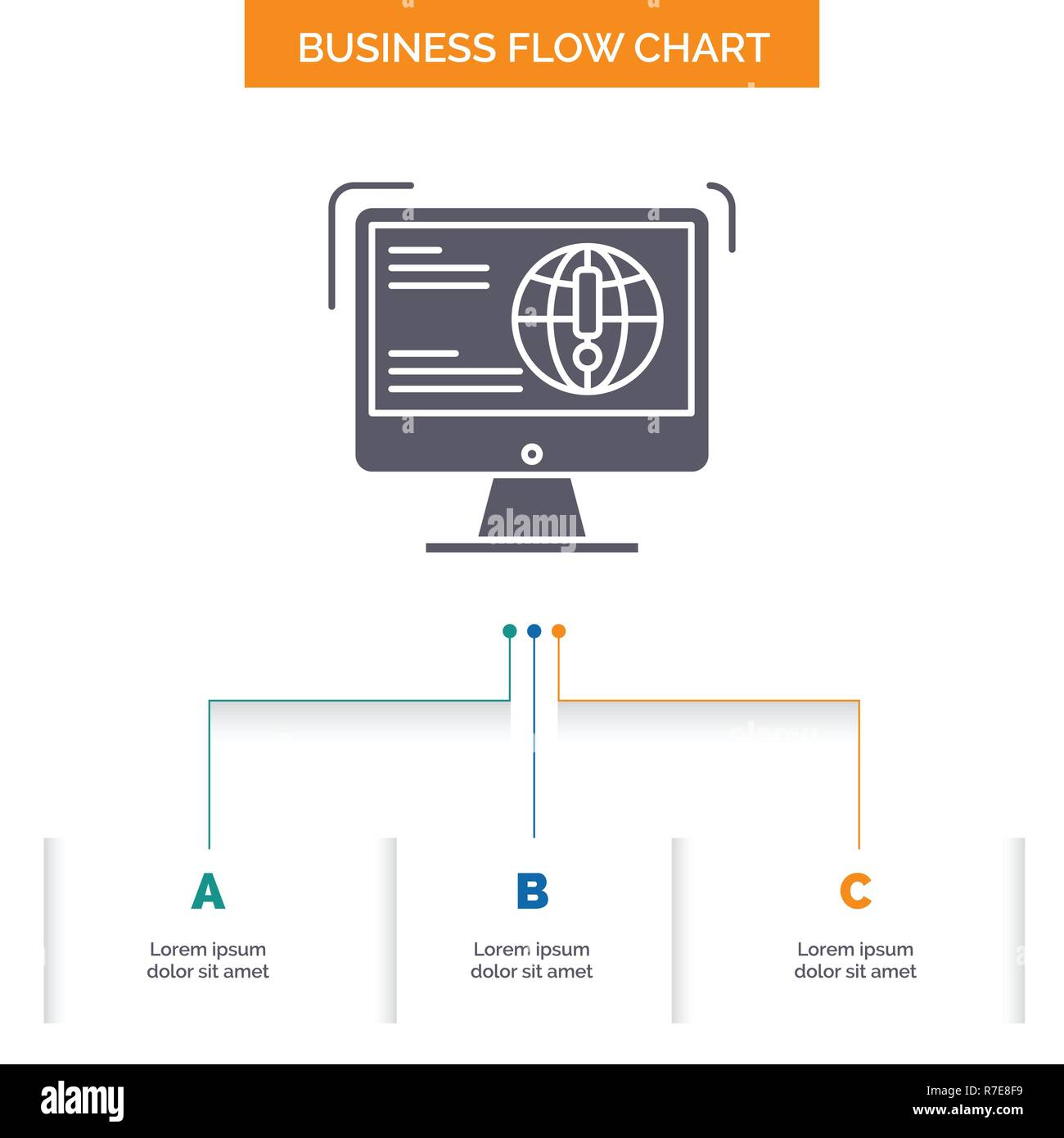 Information Content Development Website Web Business Flow Chart Design With 3 Steps Glyph Icon For Presentation Background Template Place For Tex Stock Vector Image Art Alamy