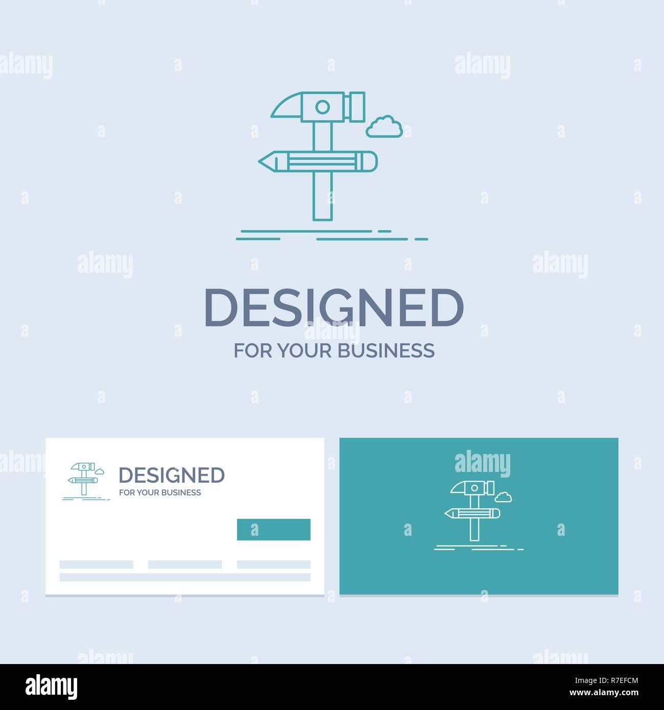 Build Design Develop Tool Tools Business Logo Line Icon Symbol