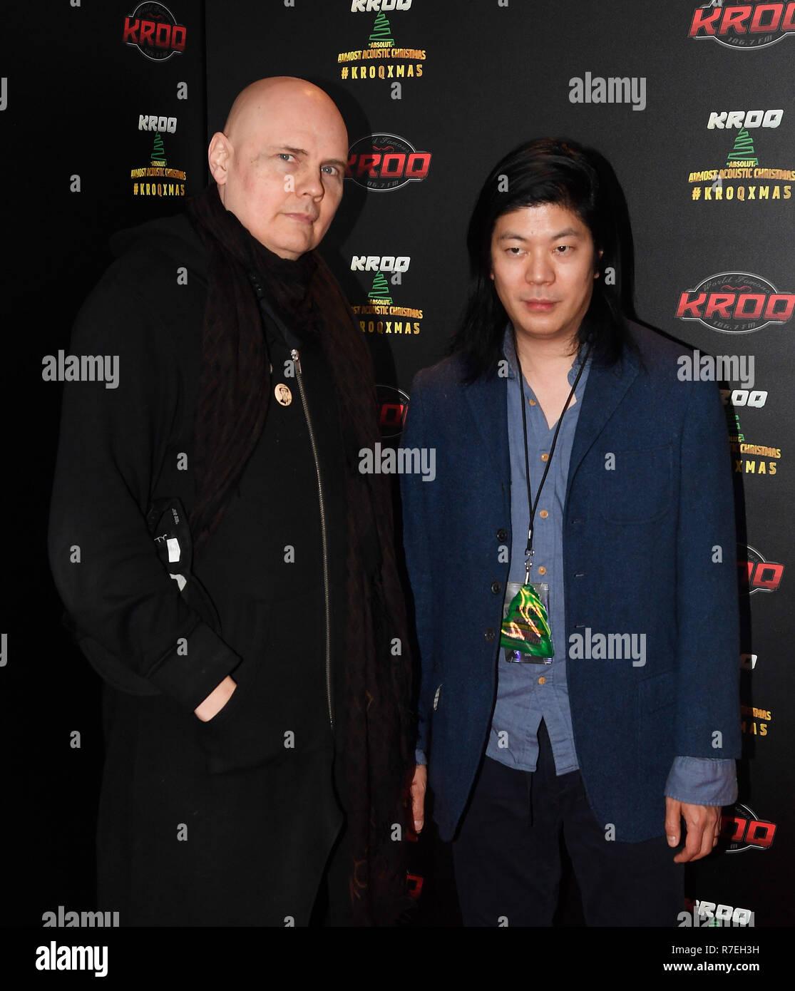 Smashing Pumpkins Forum Almost Acoustic Christmas 2020 California, USA. 8th Dec 2018. Billy Corgan and James Iha of The