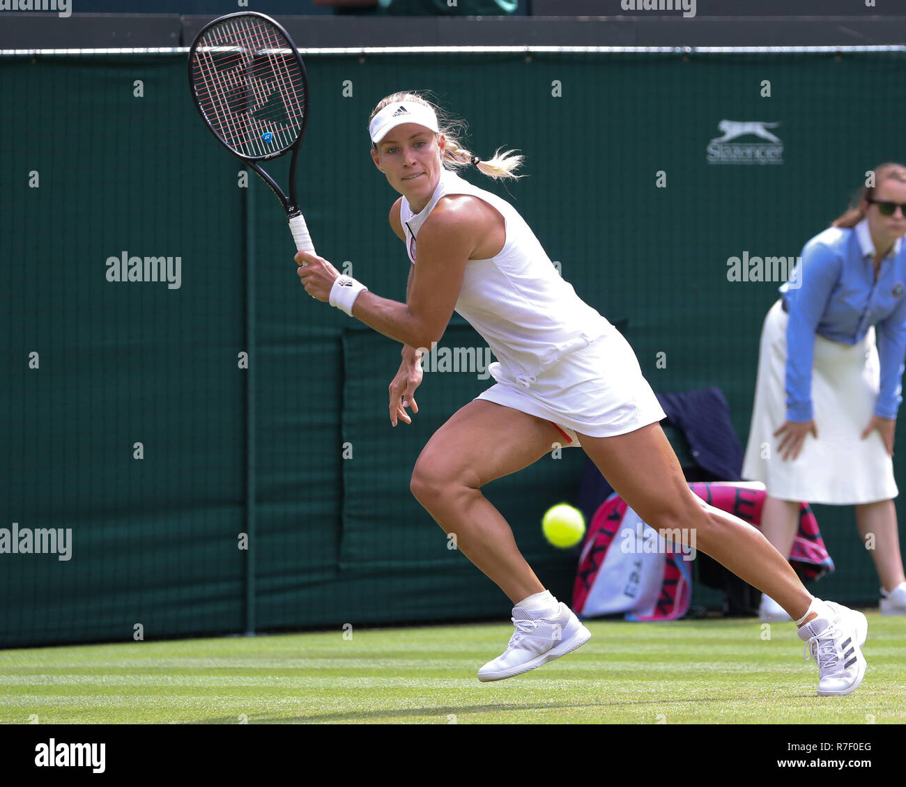 German  player Angelique Kerber in action at Wimbledon,London, Great Britain, United Kingdom. - Stock Image