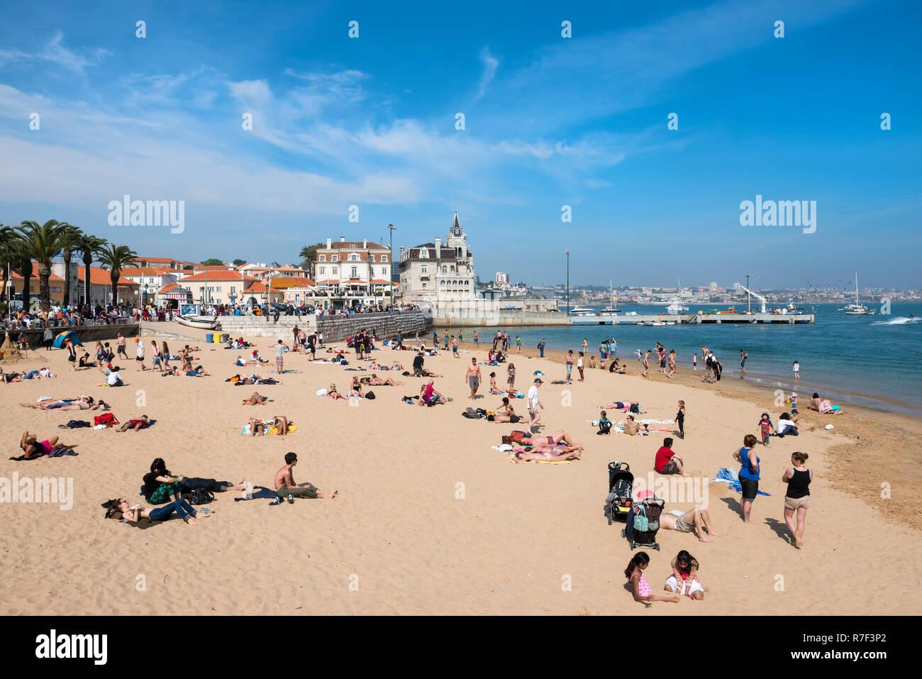8fb3b252baaad Cascais Beach, Lisbon Coast, Portugal Stock Photo  228369626 - Alamy