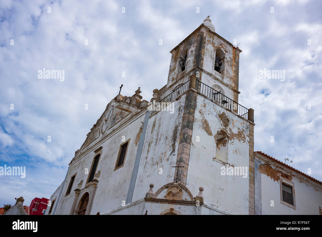 Lagos, a municipality at the mouth of Bensafrim River and along the Atlantic Ocean, in the Barlavento region of the Algarve, in southern Portugal. - Stock Image
