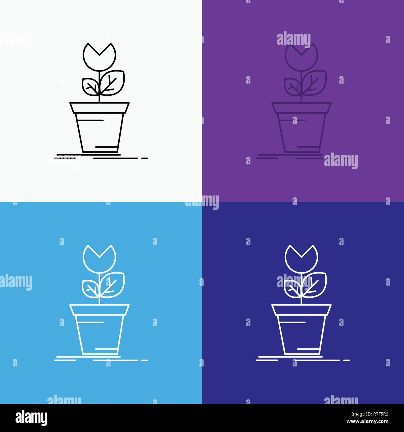 Adventure Game Mario Obstacle Plant Icon Over Various
