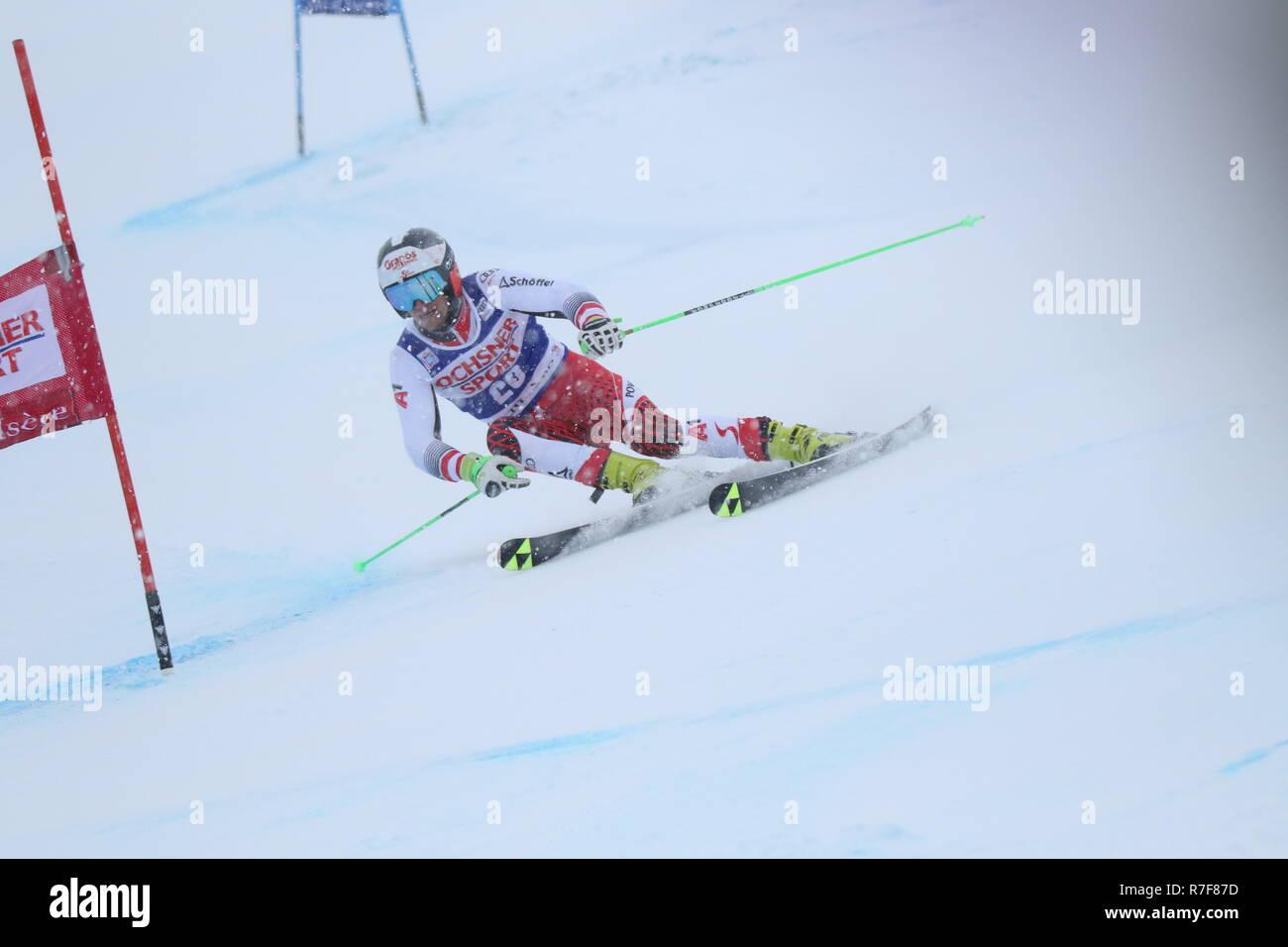 08 Dec. 2018 Val d'Isère, France. Roland Leitinger of Austria skiing men's Giant Slalom Audi FIS Alpine Ski World Cup 2019 Sport WinterSports - Stock Image